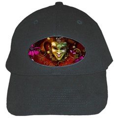 Wonderful Venetian Mask With Floral Elements Black Cap by FantasyWorld7