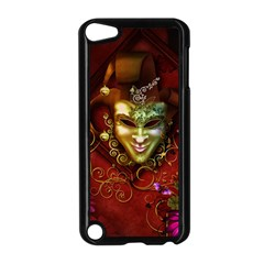 Wonderful Venetian Mask With Floral Elements Apple Ipod Touch 5 Case (black) by FantasyWorld7