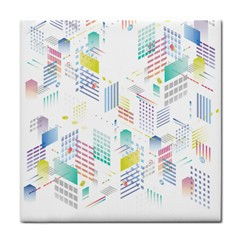 Layer Capital City Building Tile Coasters