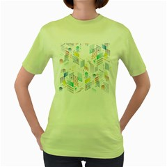 Layer Capital City Building Women s Green T-shirt