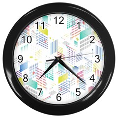 Layer Capital City Building Wall Clocks (black)