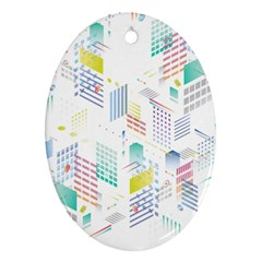 Layer Capital City Building Oval Ornament (two Sides) by Mariart