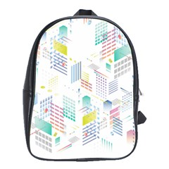 Layer Capital City Building School Bag (xl) by Mariart