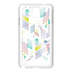 Layer Capital City Building Samsung Galaxy Note 3 N9005 Case (white)