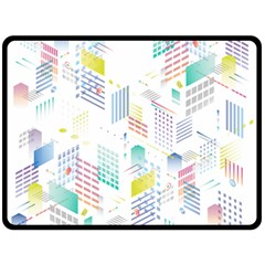 Layer Capital City Building Double Sided Fleece Blanket (large)