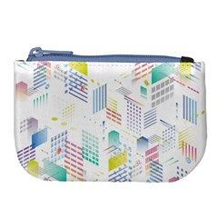 Layer Capital City Building Large Coin Purse by Mariart