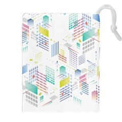 Layer Capital City Building Drawstring Pouches (xxl) by Mariart