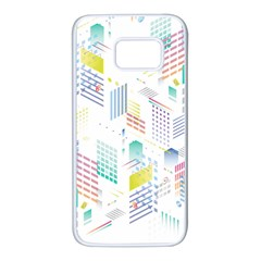 Layer Capital City Building Samsung Galaxy S7 White Seamless Case by Mariart