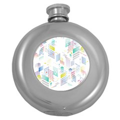 Layer Capital City Building Round Hip Flask (5 Oz) by Mariart