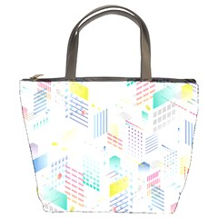Layer Capital City Building Bucket Bags by Mariart