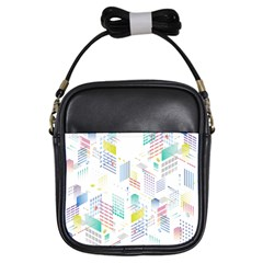 Layer Capital City Building Girls Sling Bags by Mariart