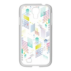 Layer Capital City Building Samsung Galaxy S4 I9500/ I9505 Case (white) by Mariart