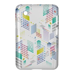 Layer Capital City Building Samsung Galaxy Tab 2 (7 ) P3100 Hardshell Case  by Mariart