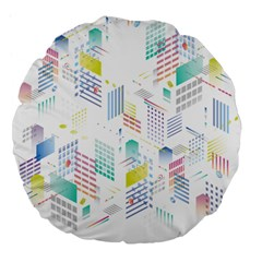 Layer Capital City Building Large 18  Premium Flano Round Cushions by Mariart