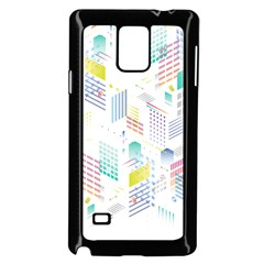 Layer Capital City Building Samsung Galaxy Note 4 Case (black) by Mariart