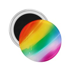 Red Yellow White Pink Green Blue Rainbow Color Mix 2 25  Magnets