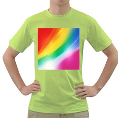 Red Yellow White Pink Green Blue Rainbow Color Mix Green T Shirt by Mariart