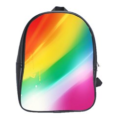 Red Yellow White Pink Green Blue Rainbow Color Mix School Bag (large)