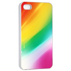 Red Yellow White Pink Green Blue Rainbow Color Mix Apple Iphone 4/4s Seamless Case (white) by Mariart