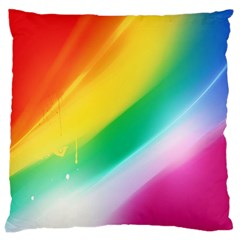 Red Yellow White Pink Green Blue Rainbow Color Mix Large Cushion Case (two Sides)