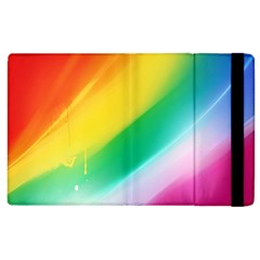 Red Yellow White Pink Green Blue Rainbow Color Mix Apple Ipad 3/4 Flip Case by Mariart