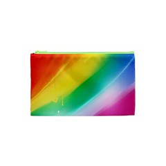 Red Yellow White Pink Green Blue Rainbow Color Mix Cosmetic Bag (xs) by Mariart