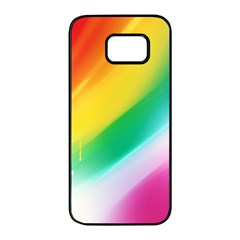 Red Yellow White Pink Green Blue Rainbow Color Mix Samsung Galaxy S7 Edge Black Seamless Case by Mariart