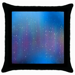 Rain Star Planet Galaxy Blue Sky Purple Blue Throw Pillow Case (black) by Mariart