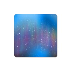 Rain Star Planet Galaxy Blue Sky Purple Blue Square Magnet by Mariart