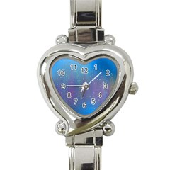 Rain Star Planet Galaxy Blue Sky Purple Blue Heart Italian Charm Watch by Mariart