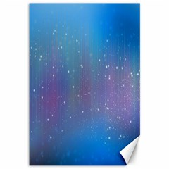 Rain Star Planet Galaxy Blue Sky Purple Blue Canvas 12  X 18   by Mariart