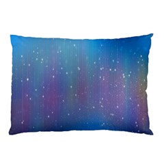 Rain Star Planet Galaxy Blue Sky Purple Blue Pillow Case by Mariart