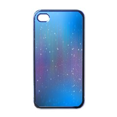 Rain Star Planet Galaxy Blue Sky Purple Blue Apple Iphone 4 Case (black) by Mariart