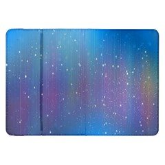Rain Star Planet Galaxy Blue Sky Purple Blue Samsung Galaxy Tab 8 9  P7300 Flip Case by Mariart