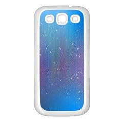 Rain Star Planet Galaxy Blue Sky Purple Blue Samsung Galaxy S3 Back Case (white) by Mariart