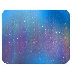 Rain Star Planet Galaxy Blue Sky Purple Blue Double Sided Flano Blanket (medium)  by Mariart