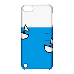 Ship Sea Beack Sun Blue Sky White Water Apple Ipod Touch 5 Hardshell Case With Stand by Mariart
