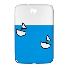 Ship Sea Beack Sun Blue Sky White Water Samsung Galaxy Note 8 0 N5100 Hardshell Case  by Mariart