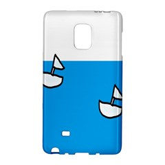 Ship Sea Beack Sun Blue Sky White Water Galaxy Note Edge by Mariart