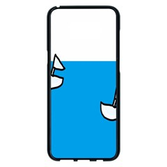 Ship Sea Beack Sun Blue Sky White Water Samsung Galaxy S8 Plus Black Seamless Case