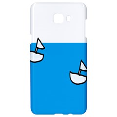 Ship Sea Beack Sun Blue Sky White Water Samsung C9 Pro Hardshell Case  by Mariart