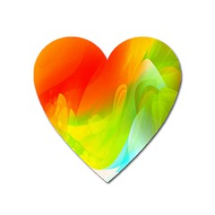 Red Yellow Green Blue Rainbow Color Mix Heart Magnet by Mariart