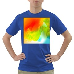 Red Yellow Green Blue Rainbow Color Mix Dark T Shirt