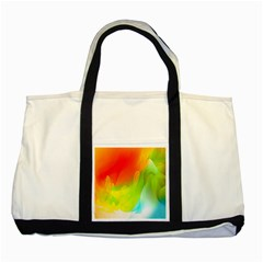 Red Yellow Green Blue Rainbow Color Mix Two Tone Tote Bag by Mariart