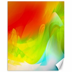Red Yellow Green Blue Rainbow Color Mix Canvas 16  X 20