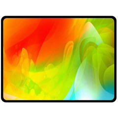 Red Yellow Green Blue Rainbow Color Mix Fleece Blanket (large)