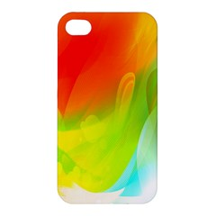Red Yellow Green Blue Rainbow Color Mix Apple Iphone 4/4s Hardshell Case by Mariart