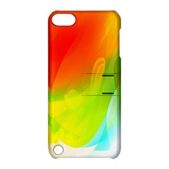 Red Yellow Green Blue Rainbow Color Mix Apple Ipod Touch 5 Hardshell Case With Stand by Mariart