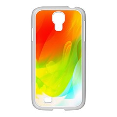 Red Yellow Green Blue Rainbow Color Mix Samsung Galaxy S4 I9500/ I9505 Case (white)
