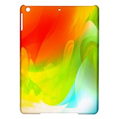 Red Yellow Green Blue Rainbow Color Mix Ipad Air Hardshell Cases